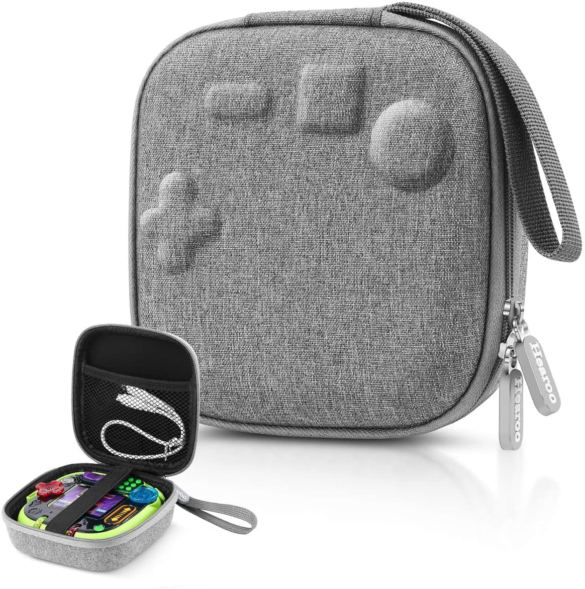 Hearoo Hard Travel Carrying Storage Case for Leapfrog Rockit Twist Handheld Learning Game System (Grey)