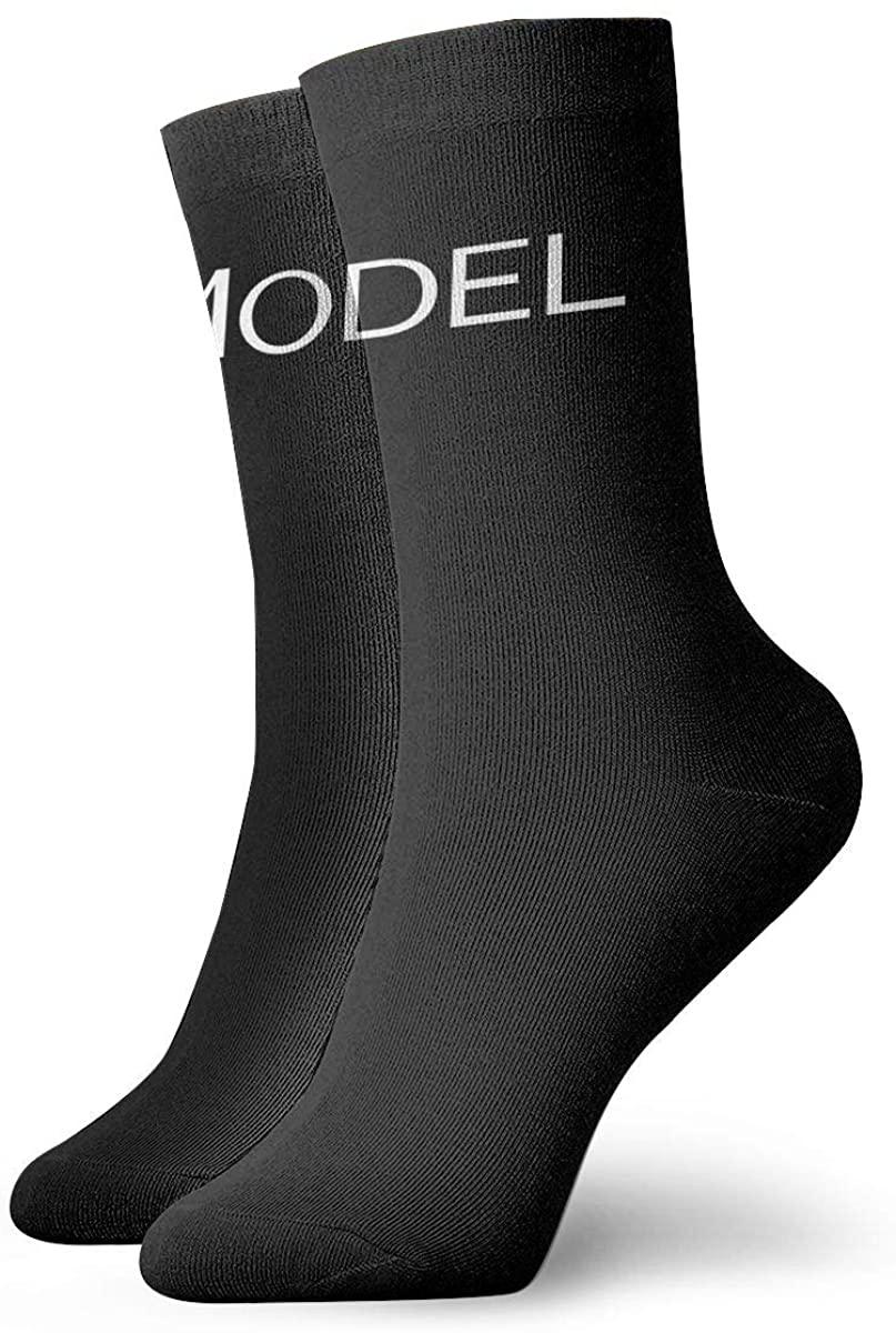 Unisex Tesla Model 3 Logo Athletic Stockings Crew Socks Sports Outdoor For Men Women