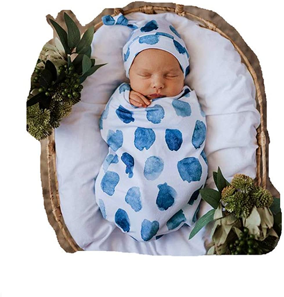 Swaddle Sack; Baby Cocoon Swaddle Wrap; with Top Knot Hat ; Sleep Sack - Newborn Photography Prop