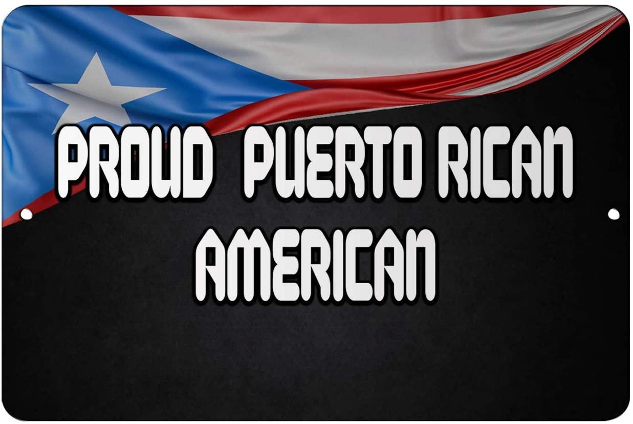 Makoroni - Proud Puerto Rican American Puerto Rico 12x18 inc Aluminum Decorative Wall Street Sign