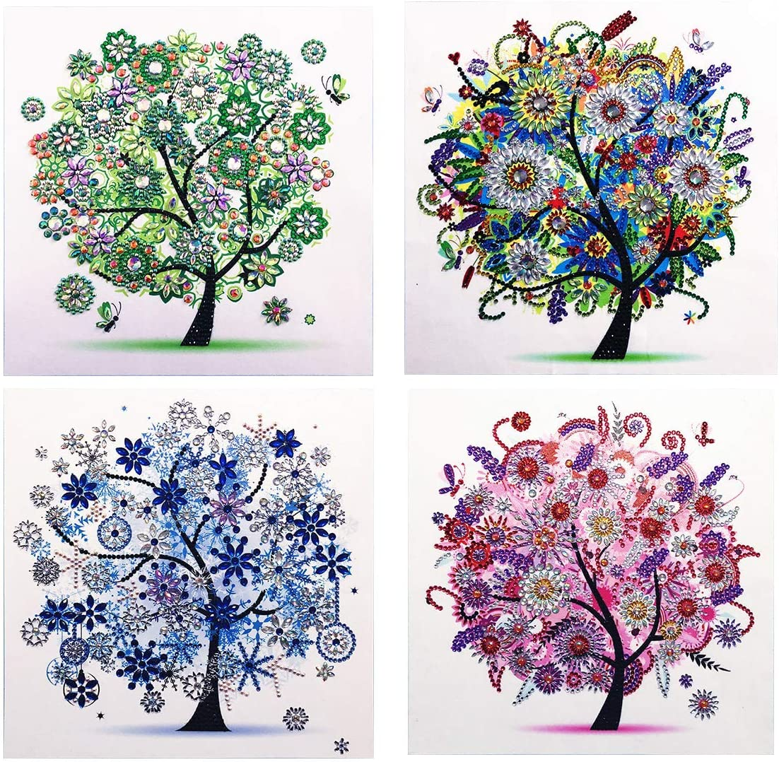 New 5D Diamond Painting Kit, DIY Diamond Number Rhinestone Painting Kits for Adults and Children Embroidery Diamond Arts Craft Home Decor