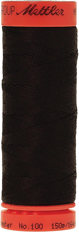 Mettler Metrosene 100% Core Spun Polyester Thread, 165 yd, Ebony