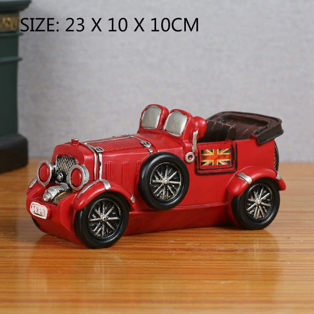 BWLZSP 1 PCS Retro old creative old car model resin crafts ornaments home accessories living room furnishings AP5251155 (Color : Red)