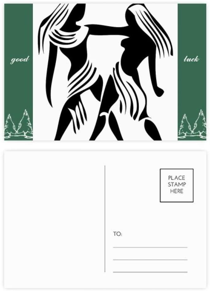 Constellation Gemini Zodiac Sign Good Luck Postcard Set Card Mailing Side 20pcs
