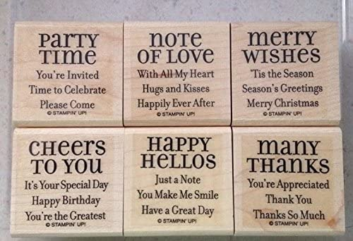 Stampin' Up! Lots of Thoughts - Wood Mounted Rubber Stamps - Set of 6