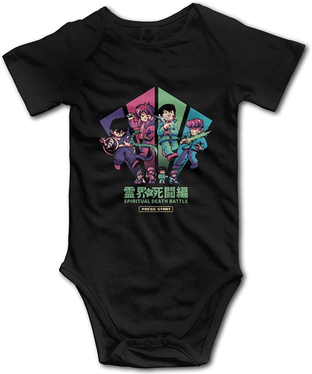 Kaihngl Baby Boy Girl Yu Yu Hakusho Anime Cotton Lovely Newborn Infant Baby Onesies Bodysuit T Shirt
