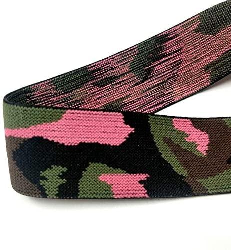 1 Yards Decorative Elastic-Thicken Camouflage Print Elastic Bands for Sewing-Elastic Bands for Clothing-Elastic Bands for Clothes-Elastic Bands for Dress-Elastic Bands for Crafts-Wide Elastic Stretch