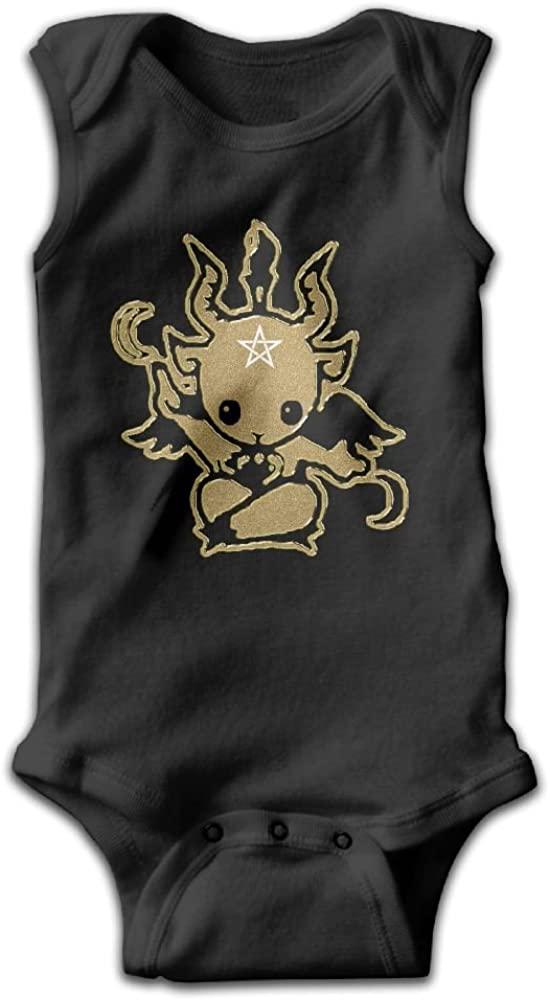Satanic Goat Baphomet Baby Bodysuit Cute Baby Onesies Rompers Bodysuit for Boys and Girls