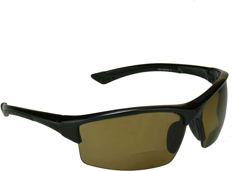 proSPORT Polarized Bifocal Reading Sunglasses TAC Polarized Lenses for Men and Women. Smoke or Brown