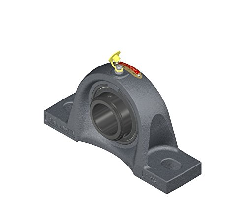 Sealmaster MSPD-27 Pillow Block Ball Bearing, Non-Expansion Type, Medium-Duty, Regreasable, Double Setscrew Locking Collars, Felt Seals, Cast Iron Housing, 1-11/16