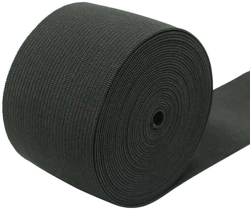 Knit Elastic 5m/5cm Wide Black Heavy Stretch High Elasticity Knit Elastic Band (A)