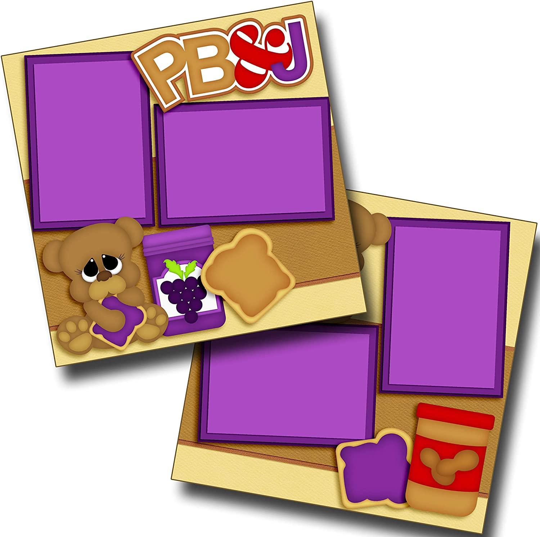 PB&J - Premade Scrapbook Pages - EZ Layout 3454