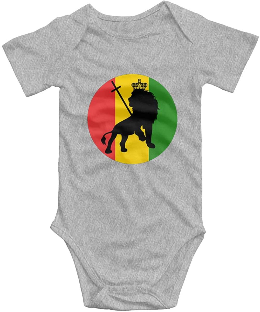 AP.Room Ja Rastafari Logo Baby Bodysuit Blink Climbing Clothes Gray 12 Months