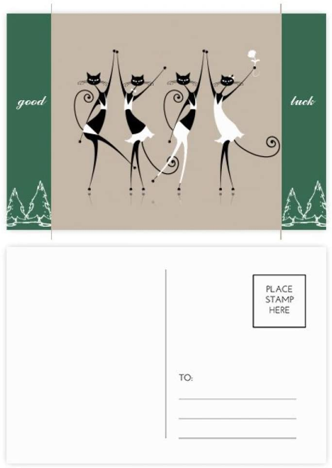 Celebrate Party Cheers Cat Good Luck Postcard Set Card Mailing Side 20pcs