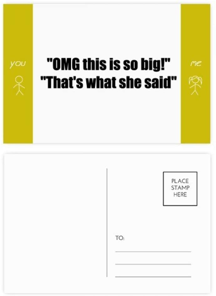 Quote Joke This Is So Big Friend Postcard Set Thanks Card Mailing Side 20pcs