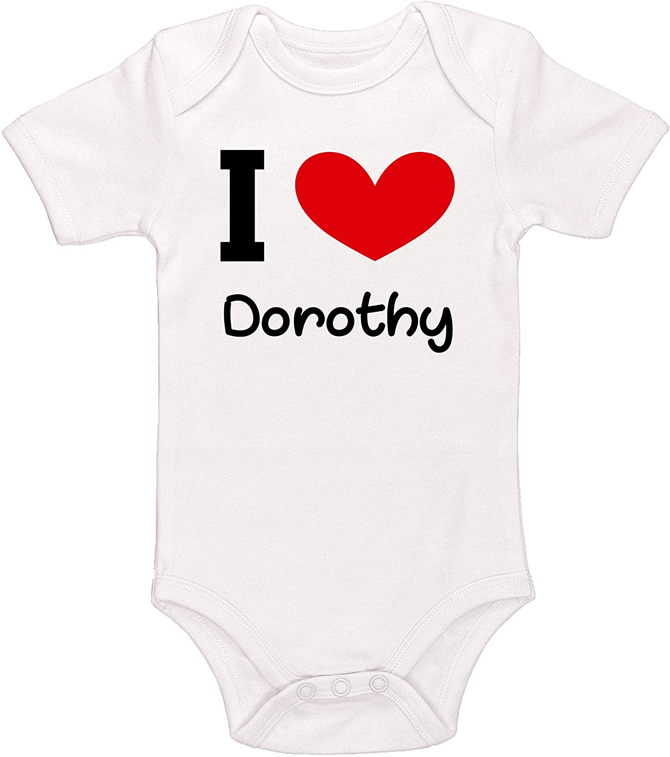 Kinacle I Love Dorothy Personalized Baby Bodysuit