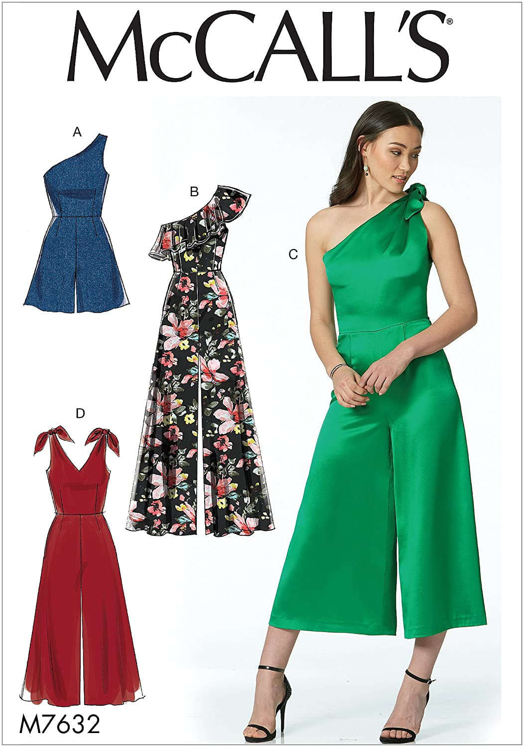 McCalls Patterns Romper And Jumpsuits With Shoulder Options