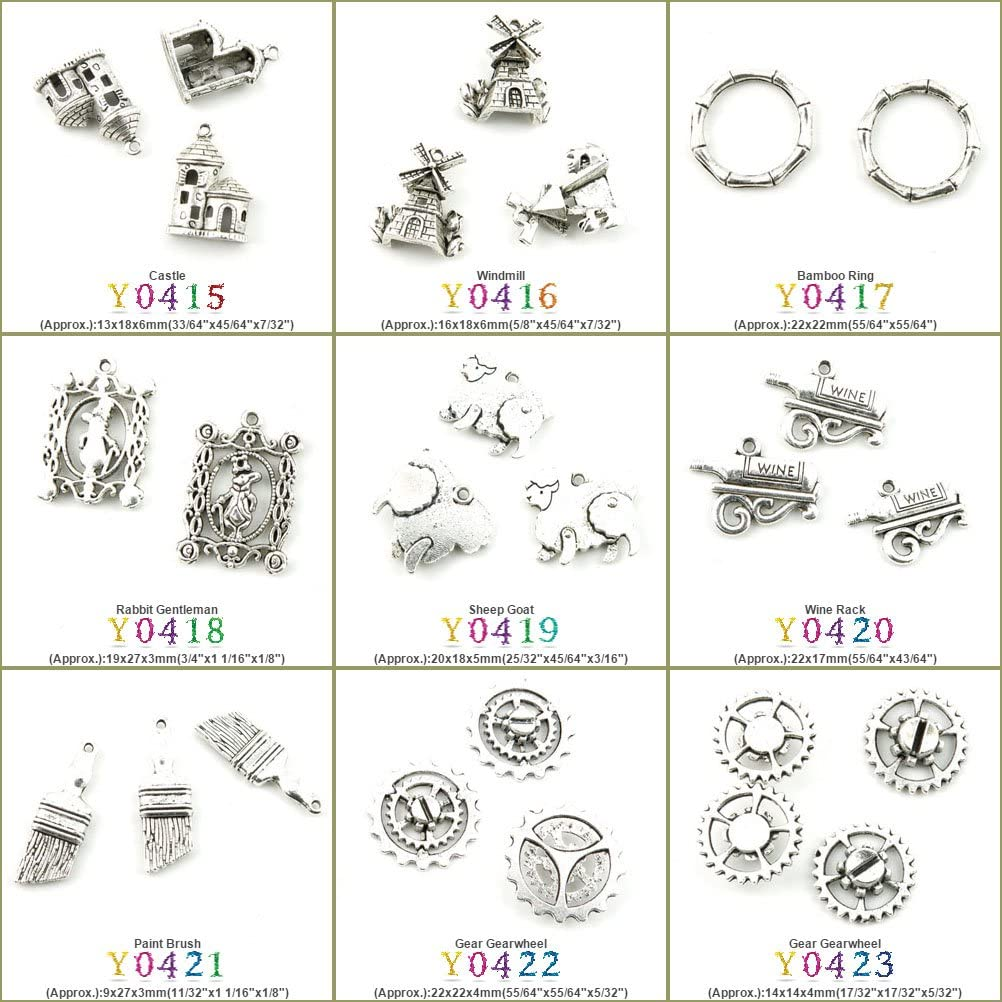 100 PCS Antique Silver Tone Jewelry Making Charms Findings Jewellery Charme Supply Supplies Lots Bulk Wholesale Y0419 Sheep Goat