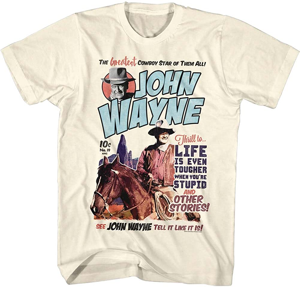 American Classics John Wayne Make it Wayne Men's Vintage White Shirt