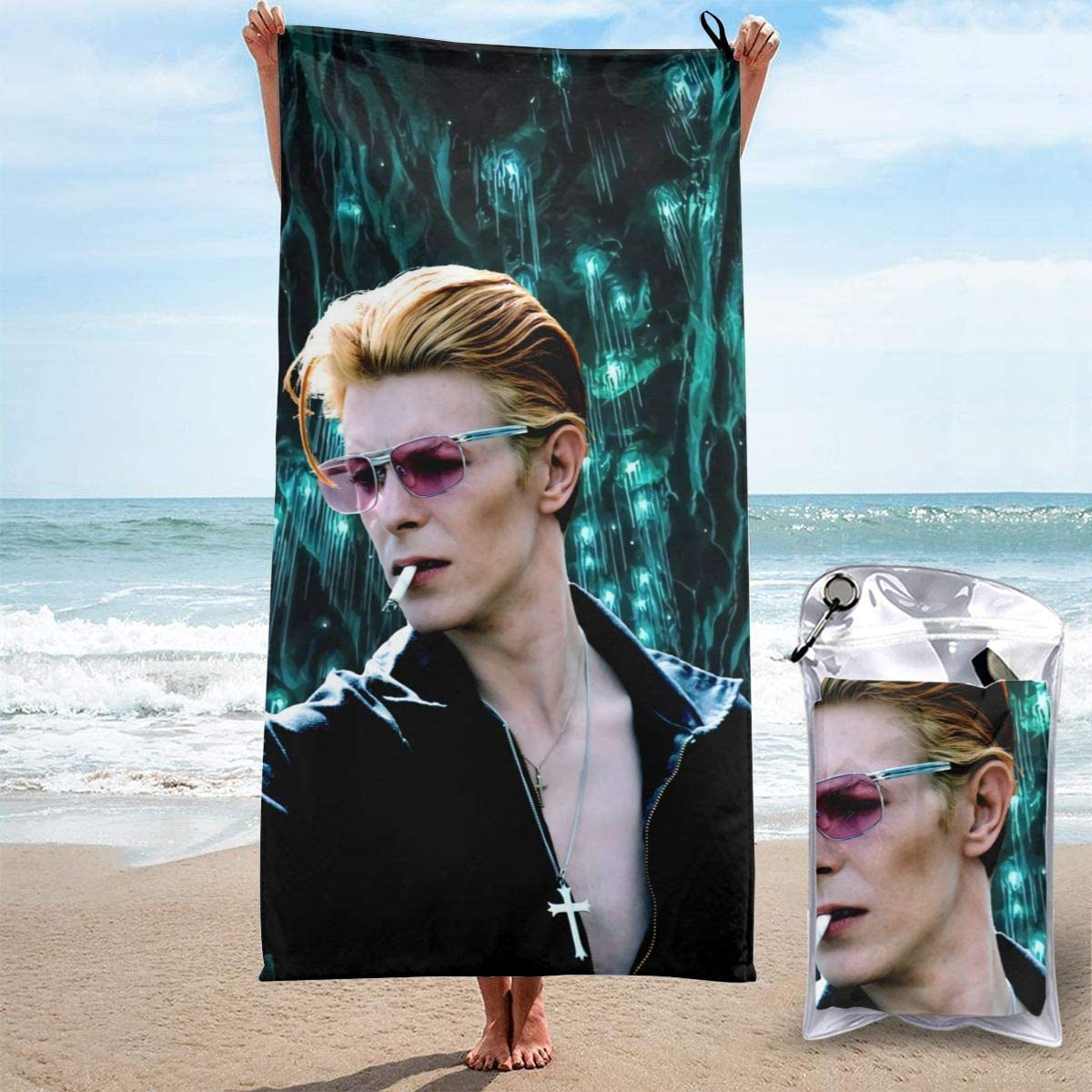 ShoppingNowDear Da-vid-Bo-wie-Ro-ck Unisex Camping Home Quick Dry Yoga Beach Towels Oversized