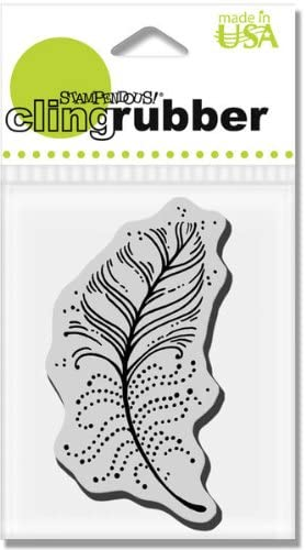 Cling Feather Points - Cling Rubber Stamp