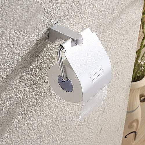 GTVERNH Bathroom Hardware Pendant Bathroom Space Aluminum Paper Towel Box Reel Rack Paper Towel Rack