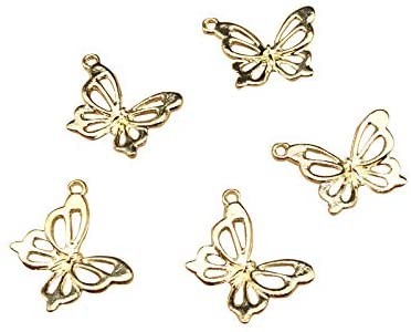 SANQIU 20PCS Butterfly Charm for Jewelry Making and Crafting