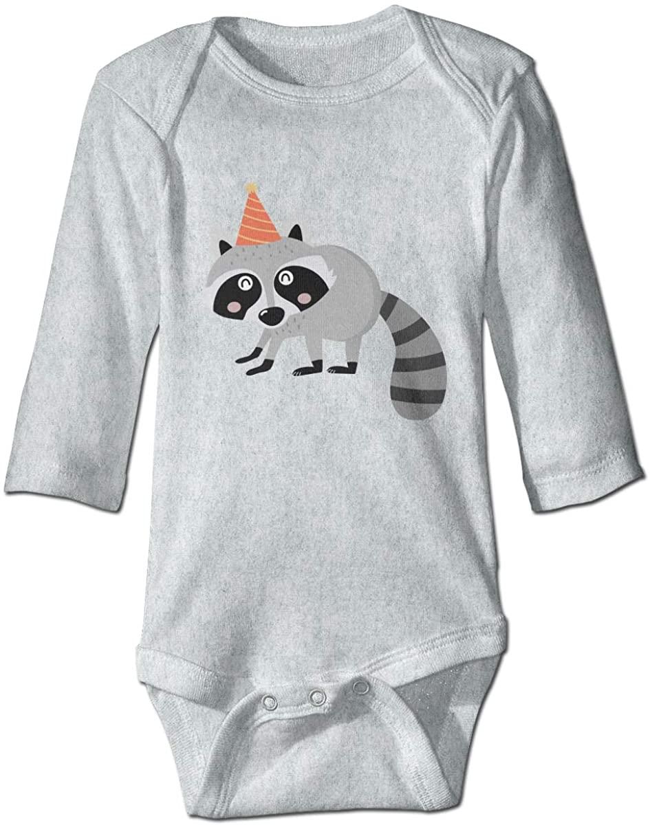 YOIGNG Raccoon Unisex Baby Bodysuit Infant Cotton Outfits Long Sleeve Jumpsuit