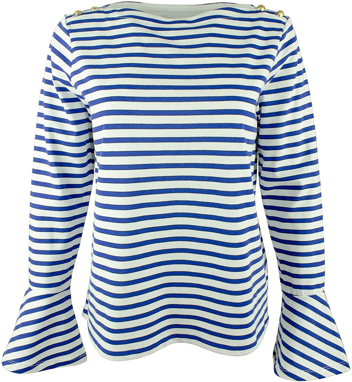 Women's Petite Bell-Sleeve Top