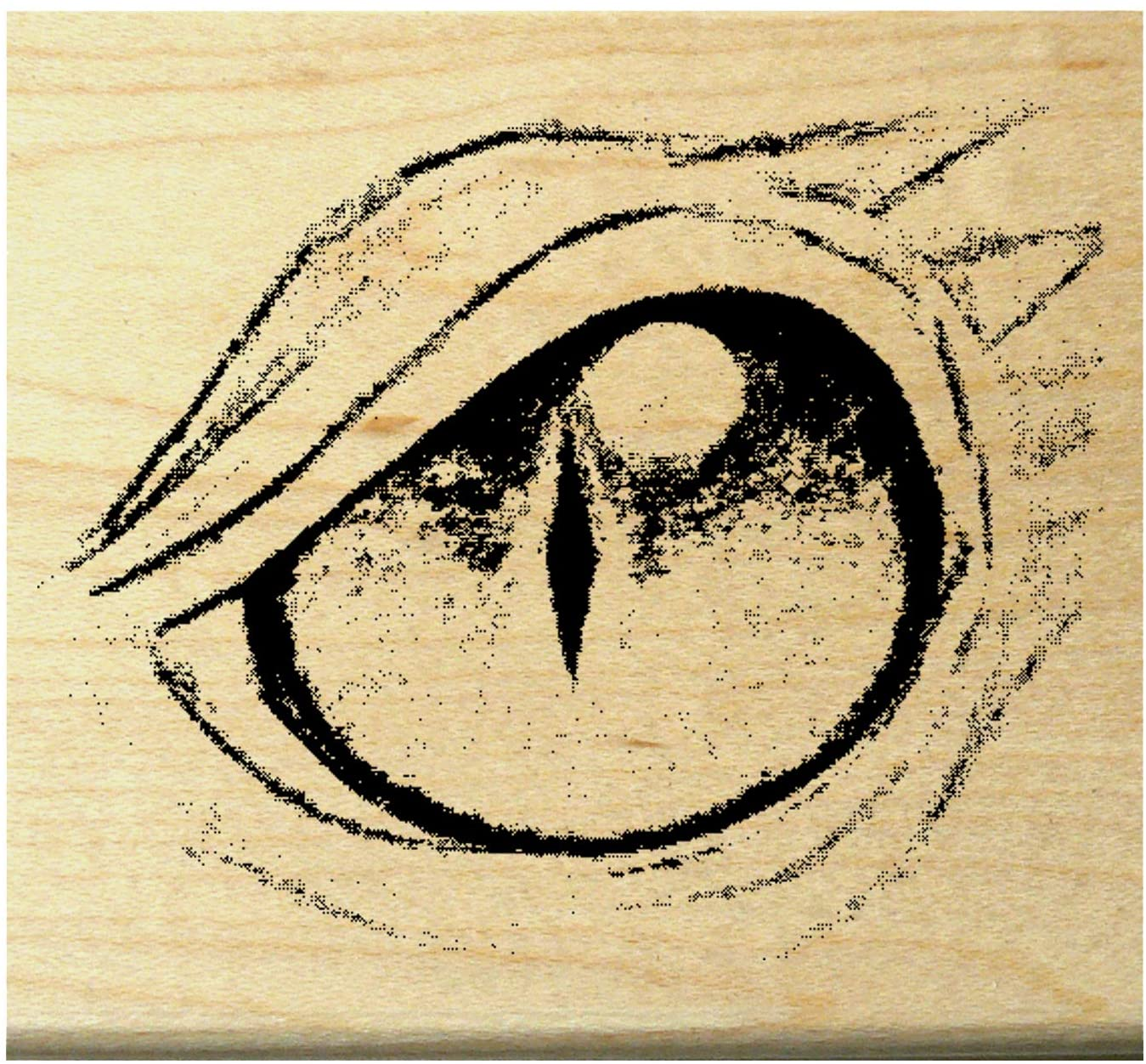 P101 Dragon's Eye Rubber Stamp Large