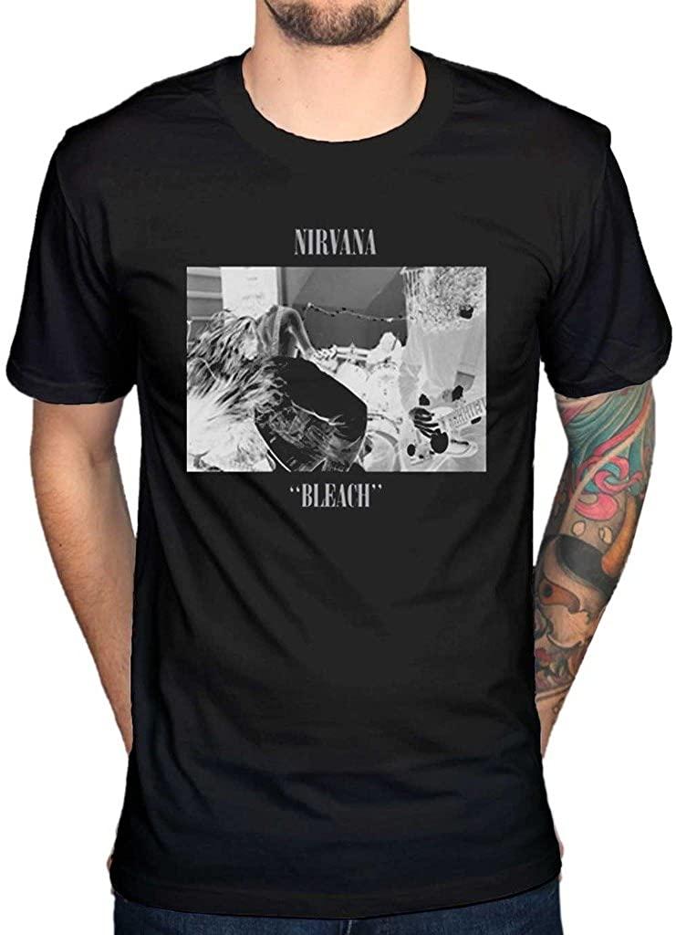 AWDIP Men's Official Nirvana Bleach T-Shirt Rock Band Alternative Kurt Cobain