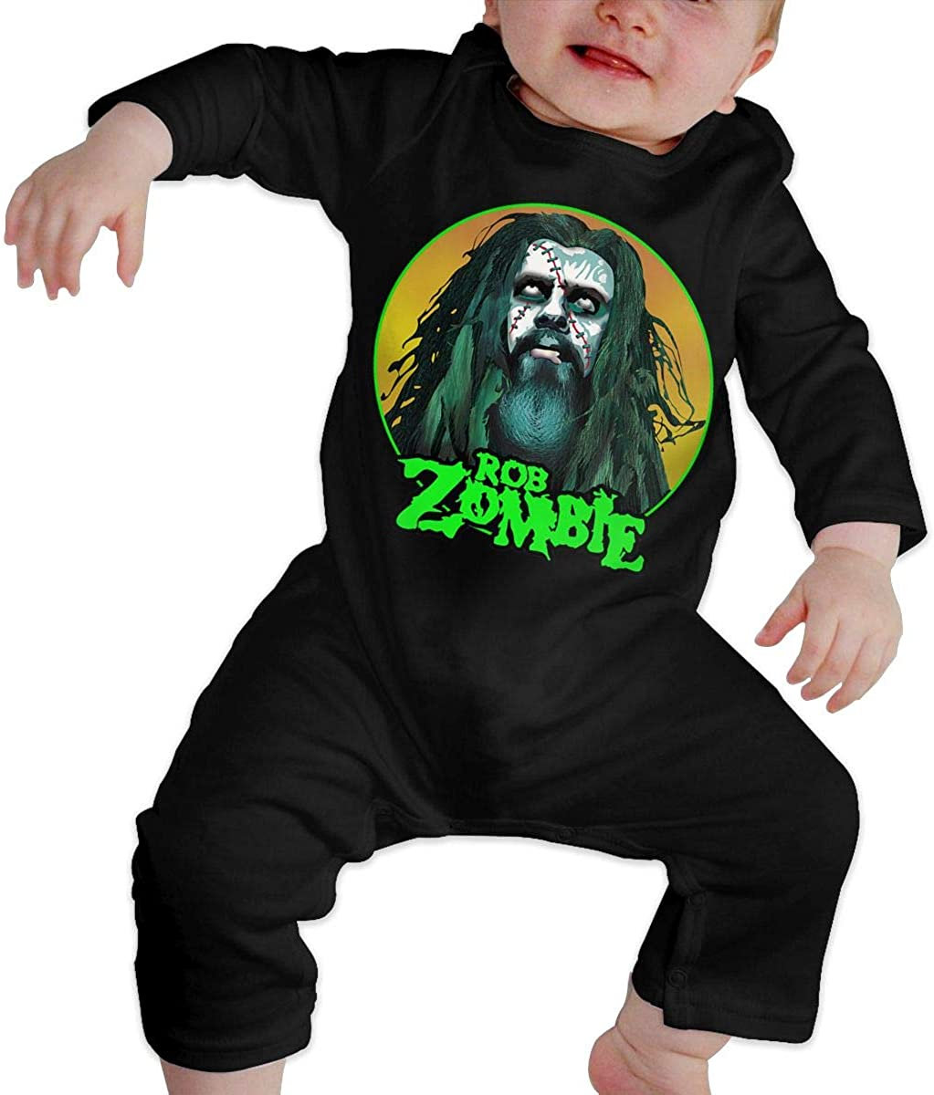 TheresaTucker Rob Zombie Unisex Baby Jumpsuit Cotton Romper Long Sleeve Bodysuit Infant Outfit 6-24 Month