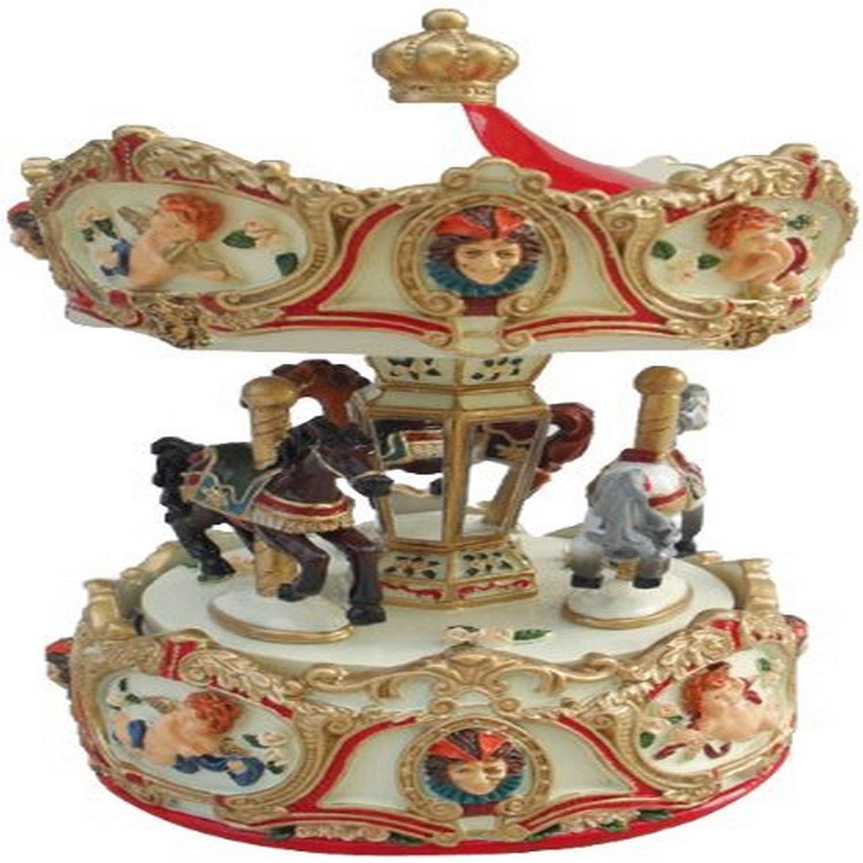 MusicBox Kingdom 14197 Carousel Angel Music Box Playing
