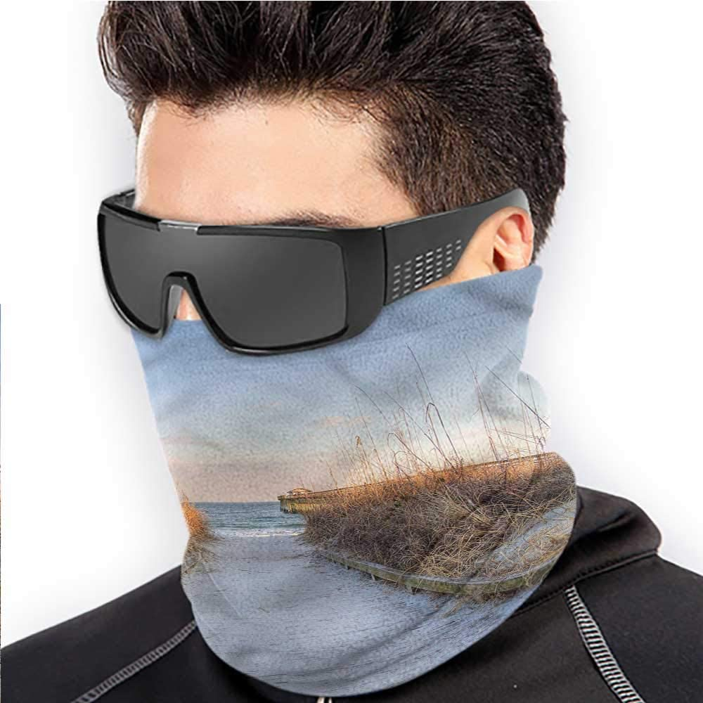Face Bandanas Beach Cold Weather Face Motorcycle Scarf Sunset Atlantic Ocean Coast 10 x 12 Inch