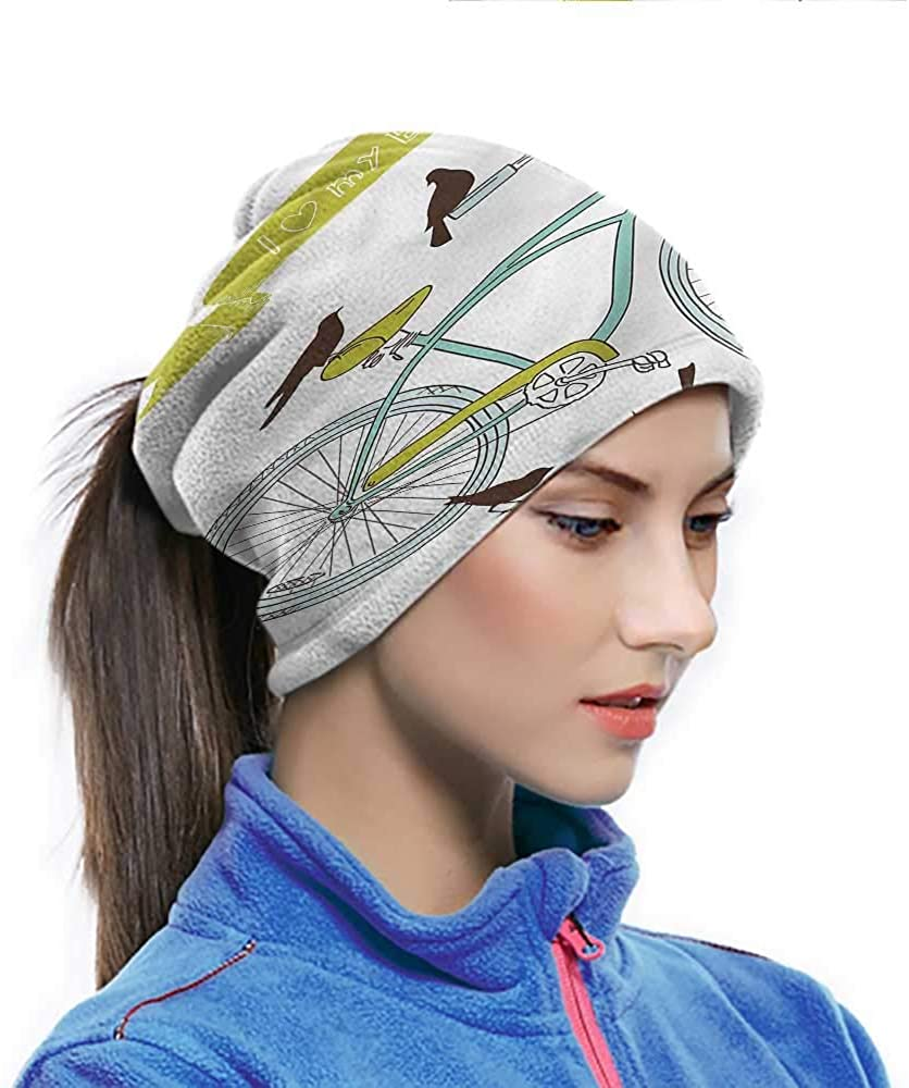 Sun Hat Bicycle, I Love My Bike Quote Heart Seamless Neck Gaiter UV Dust Protection Breathable 10 x 11.6 Inch