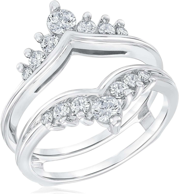 Round Cut Diamond Ring Guard 3/4ctw