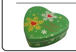 36PCS M LOVE THE SNOWFLAKES HEART TIN CASE 170MM L X 180MM W X 50MM H THE6700103