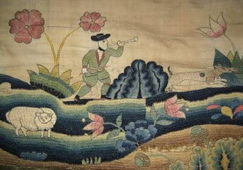 Art Needlepoint Shepherd and His Flock I from Winterthur Collection