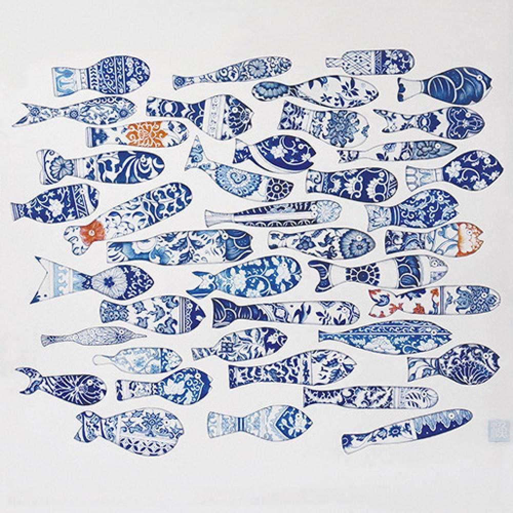 5D DIY Diamond Painting Blue Fish Home Decoration Cross Stitch kit Round Diamond Embroidery Craft Art Gift 40x50cm