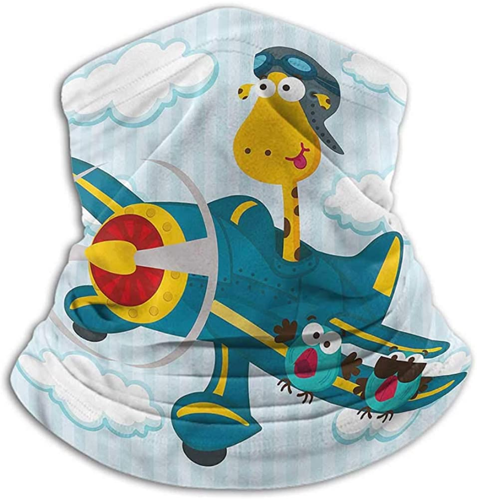 Face Scarf Boys Room Cold Weather Face Motorcycle Scarf Plane with Two Birds 10 x 12 Inch