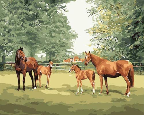 Livestock Farm Horses HP Design Needlepoint Canvas E#428 (10CT Penelope,18