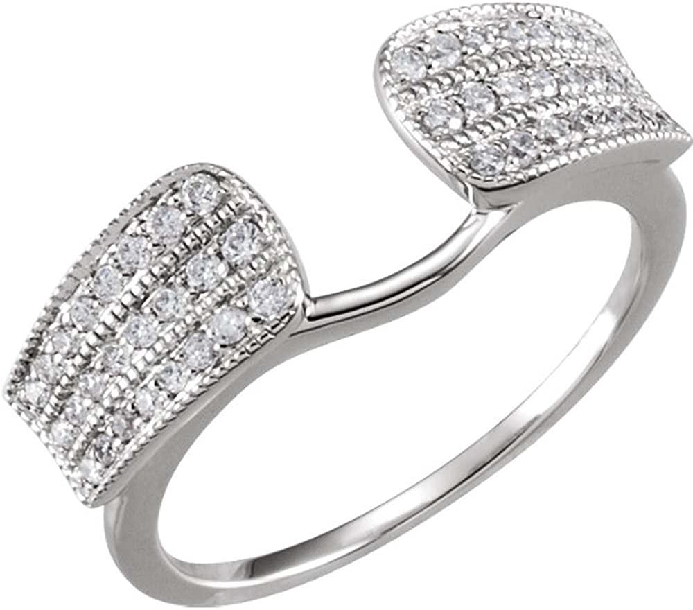 1/3 CTTW Diamond Enhancer in 14k White Gold (Size 6 )