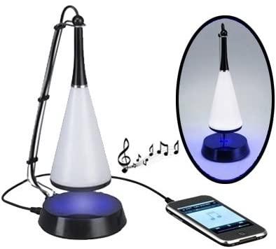 Touch Sensor USB LED Desk Lamp + Mini Bluetooth V4.0 Speaker. SE-FT (Color : Black)