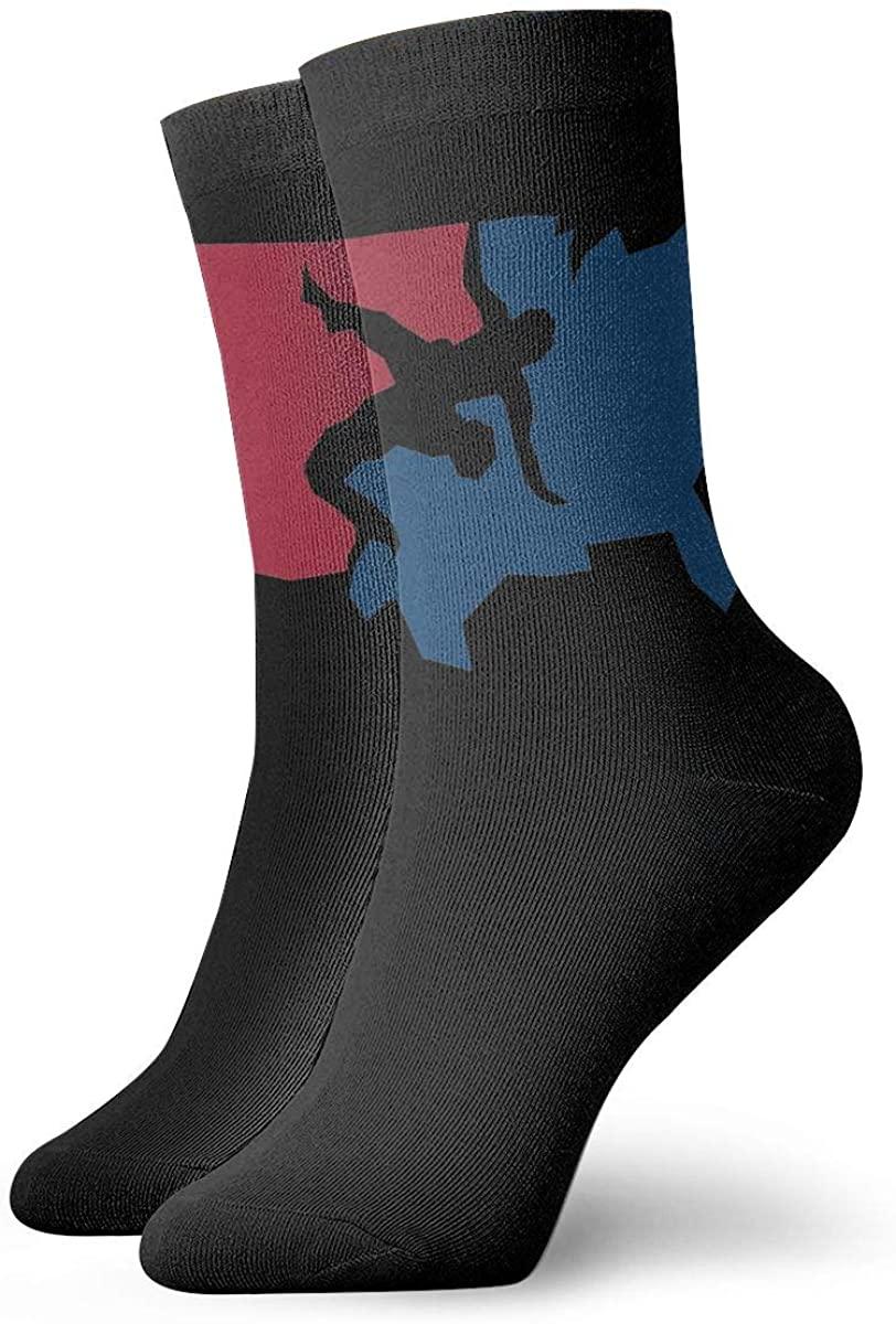 Unisex USA Wrestling Athletic Stockings Crew Socks Sports Outdoor For Men Women
