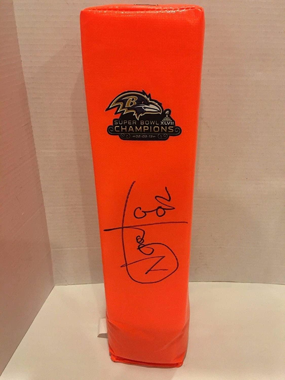 Haloti Ngata Signed Touchdown Pylon Baltimore Ravens Super Bowl Xlvii Football - NFL Autographed Miscellaneous Items