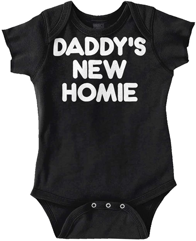 Brisco Brands Daddy's New Homie Funny Baby Romper Bodysuits