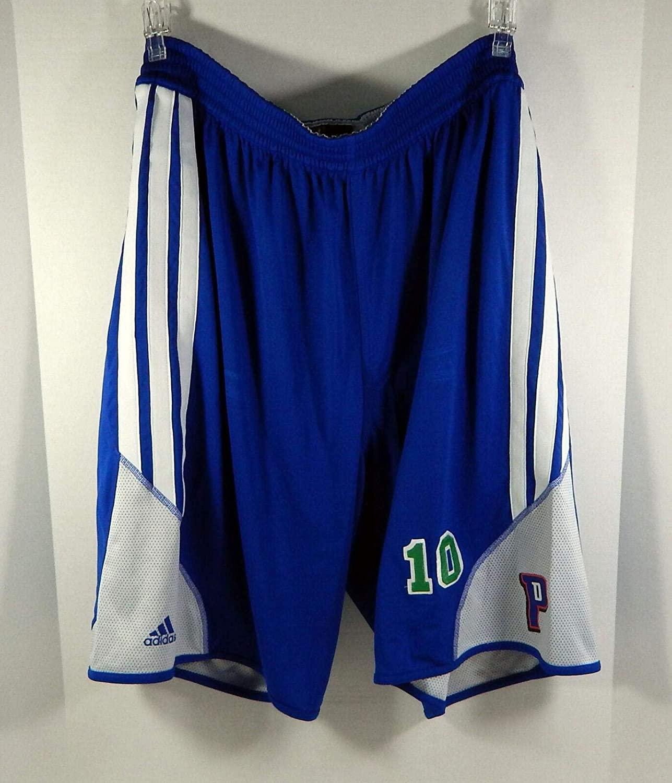 Detroit Pistons Greg Monroe #10 Game Used Blue Practice Shorts - NBA Game Used