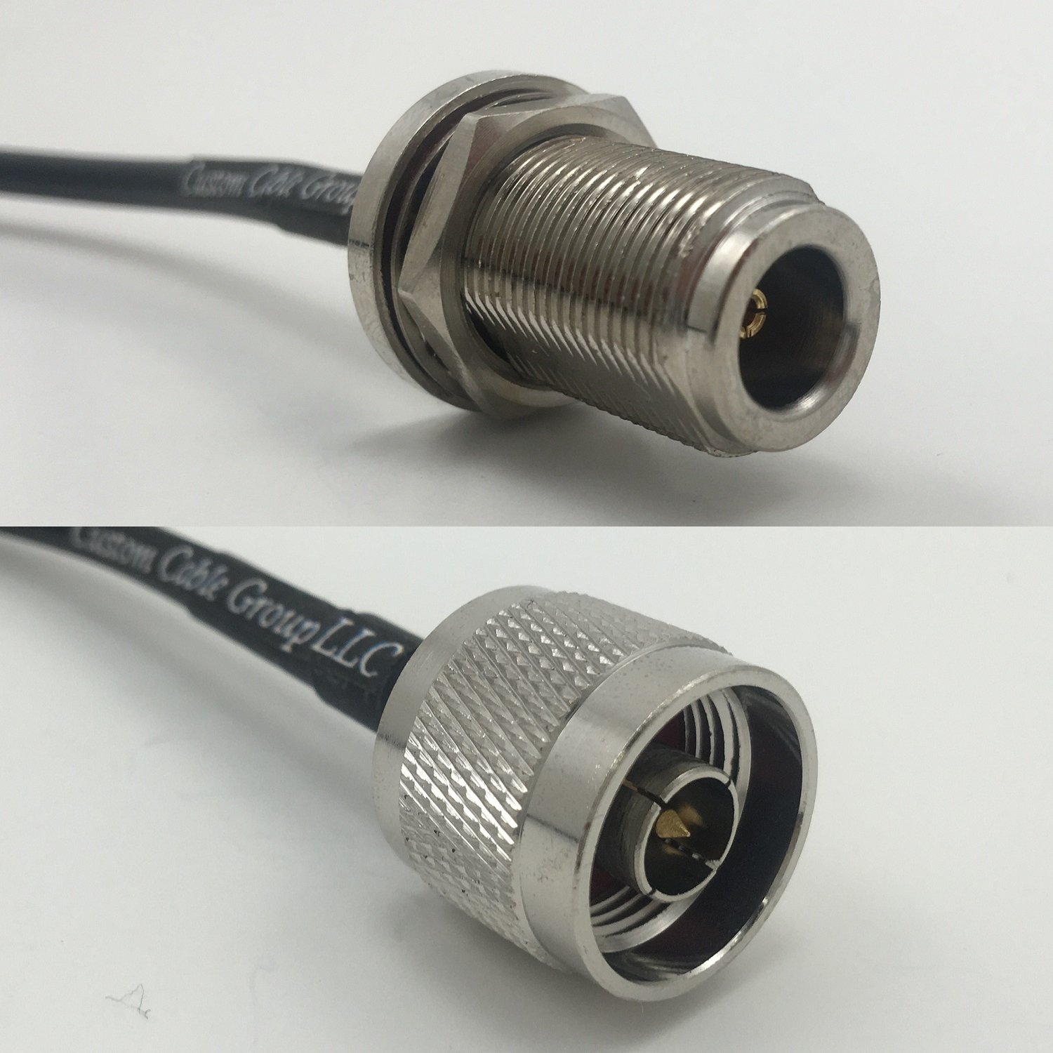 6 feet RG142 N FEMALE BULKHEAD to N MALE Pigtail Jumper RF coaxial cable 50ohm Quick USA Shipping