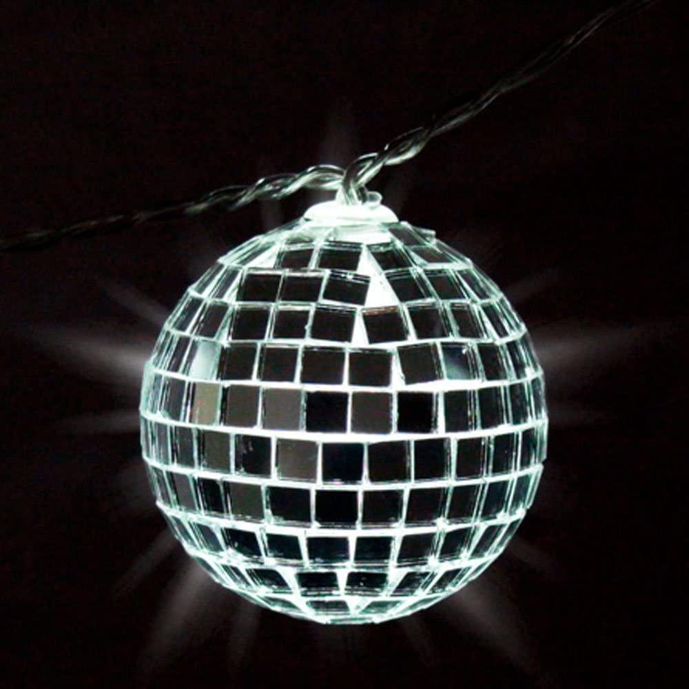 Shindigz Mirror Disco Ball String Lights Lighting Party Supplies Decorations