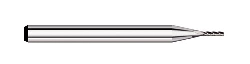 Titan TC58042 Solid Carbide End Mill, 4 Flute, Square End, 30 degree Angle Helix, Uncoated, 0.042